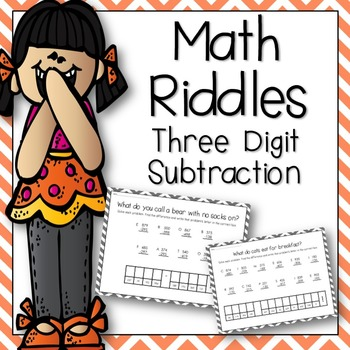 Math Riddles: Three Digit Subtraction