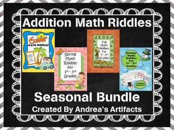 Math Riddles for 1st-3rd Bundle (Addition)
