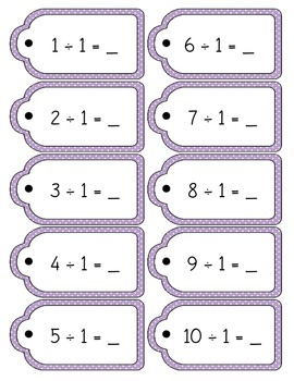Math Division Ringed Facts Tags