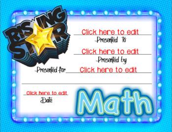 Math Rising Star Award