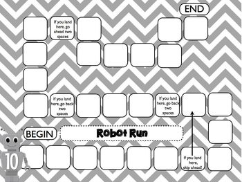 Math Robot Review 4th Grade CCSS Centers/Games