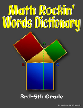 Math Rockin' Words Dictionary