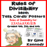 Rules of Divisibility Task Cards, + Set of 11 Divisibility Posters