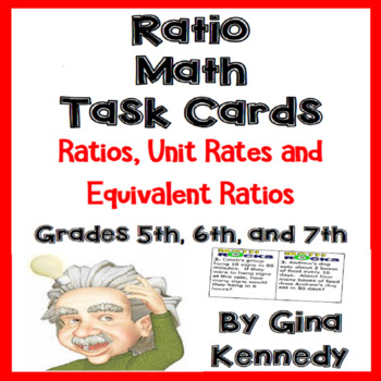 Ratios Task Cards Unit Rates and Equivalent Ratios