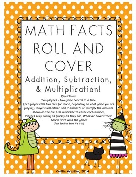 Math Roll and Cover Halloween Edition