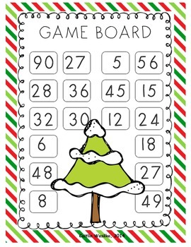 Math Roll and Cover Winter/Christmas Edition