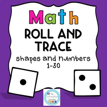 Math Roll and Trace Numbers and Shape