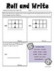 Math Roll and Write Addition and Subtraction of Decimals Fluency Practice