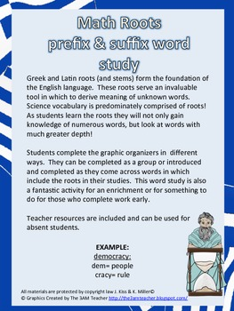 Math Roots-Prefix & Suffixes