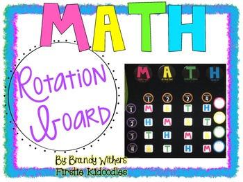 Math Rotation Board in Bright Colors