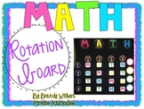 Math Rotation Board {Bright Colors}