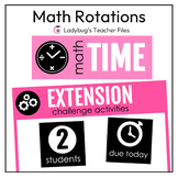 Math Rotations: Signs and Labels