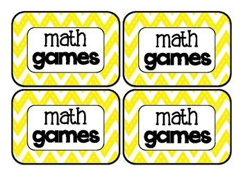 Math Rotation Board {chalkboard & bright chevron}