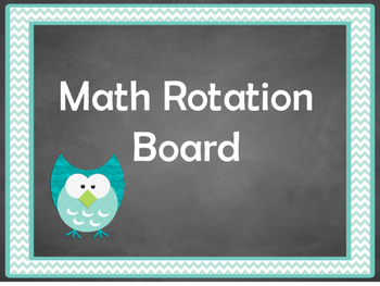 Math Rotation Board- Chalkboard Theme
