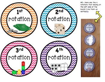 Math Rotation Board (Chevron Theme)
