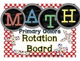 Math Rotation Board {chalkboard & primary dots}