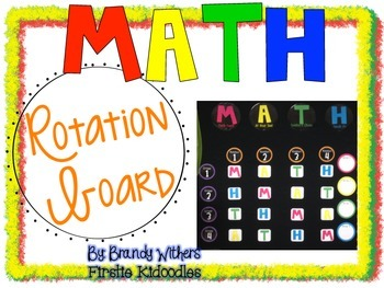 Math Rotation Board {Primary Colors}