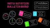 Math Rotation Bulletin Board Set
