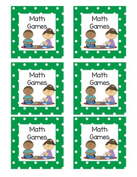 Math Rotation Cards