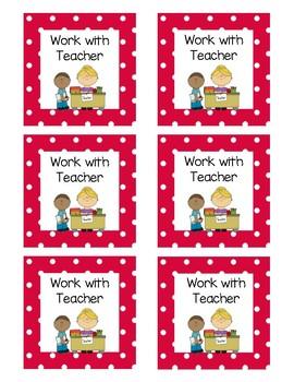 Math Rotation Cards
