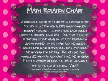 ALEKS Math Rotation Chart (PDF): Visually see when they have completed a task