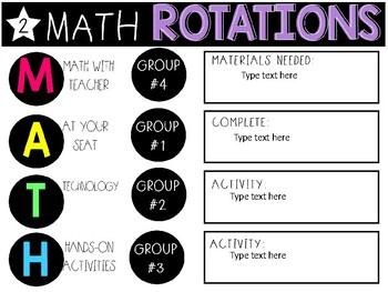 Math Rotation/Guided Math Timed Slides