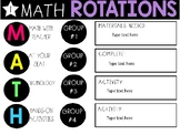 Math Rotation/Guided Math Timed Slides