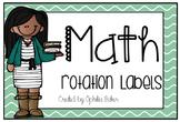 Math Rotation Labels