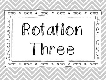 Math Rotation Posters