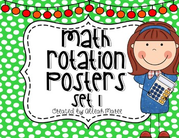 Math Rotation Posters Set 1 {Editable}