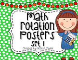 Math Rotation Posters Set 1 {Editable}