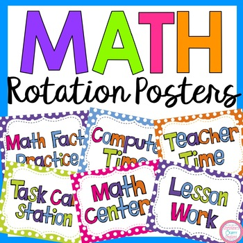 Math Rotation Posters (25 different posters)