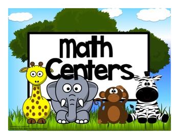 Math Center Rotation Automated Editable Powerpoint Jungle Animas Theme