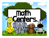 Math Center Rotation Automated Editable Powerpoint Jungle Animas Theme