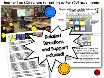 Math Rotation Powerpoint for Centers & Guided Math Bright Smiles Design
