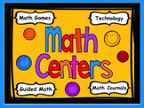 Math Rotation Powerpoint for Centers & Guided Math Bright