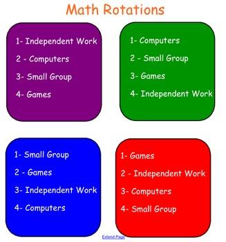 Math Rotation Schedule