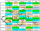"Math Rotation Schedule - Math ""Weekly 5"""