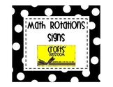 Math Rotation Signs