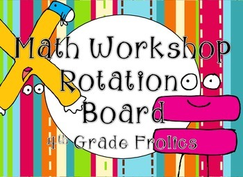 Math Rotations Board - Pink, Turquoise, & Lime