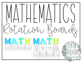 Math Rotations Board + Supply Labels