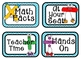 Math Rotations Board - Turquoise/Gray Theme