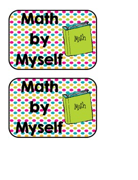 Math Rotations Chart