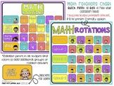 Math Rotations Chart EDITABLE Bulletin Board