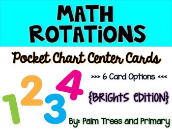 Math Rotations Chart // Pocket Chart Center Cards {brights edition}