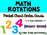 Math Rotations Chart // Pocket Chart Center Cards {brights