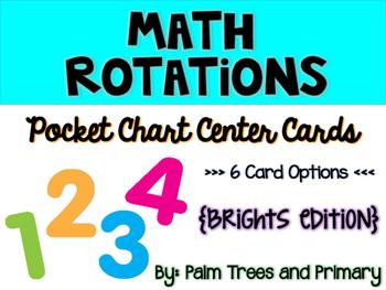 Math Rotations Chart // Pocket Chart Center Cards {brights