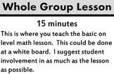 Math Rotations Chart and Descriptions