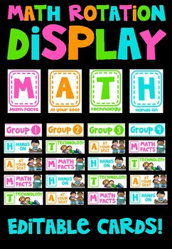Math Rotations Display FREEBIE
