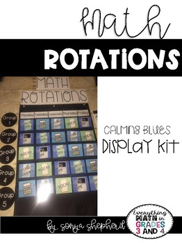 Math Rotations Display Kit - calming blues